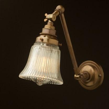 Brass Adjustable Arm wall mount shade