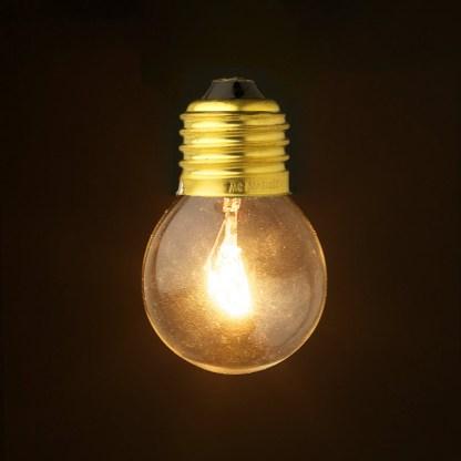 Incandescent tungsten E27 25W clear round bulb
