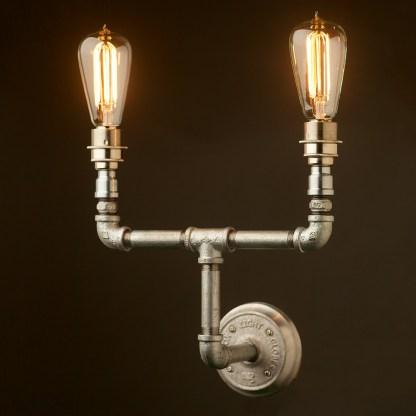 Plumbing Pipe Wall Lamp E27 Candelabra