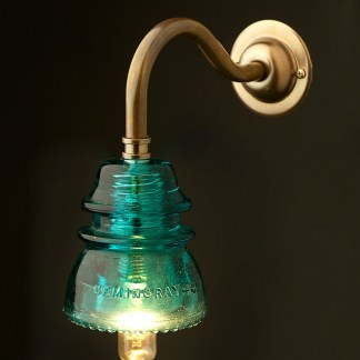 Brass Coventry Wall mount Hemingray No42 Insulator