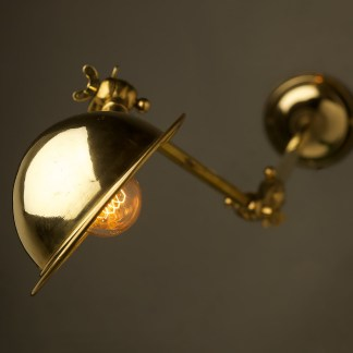 Complete Adjustable Brass Wall Lamp Shade