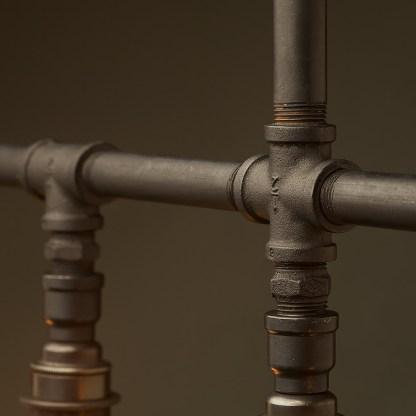 Vintage Galvanised Plumbing Pipe Chandelier