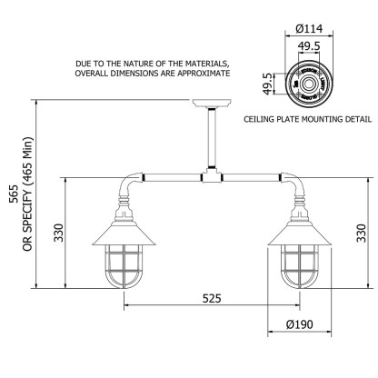 Outdoor Galvanised Plumbing Pipe Short Table Light
