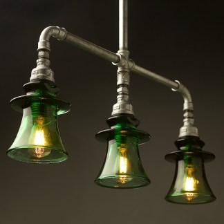 Plumbing Pipe Green Russian Insulator table light