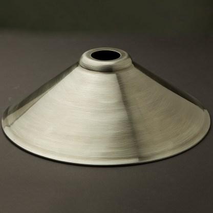 Antiqued steel light shade 310mm