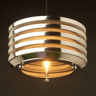 Art deco aluminium disc light pendant