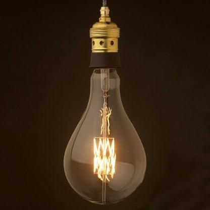 Edison style light bulb and E40 Brass and ceramic pendant