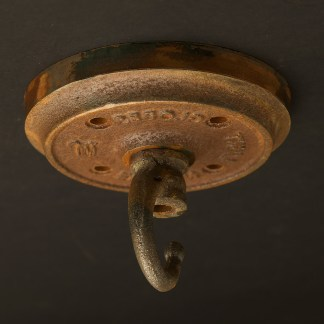 Rusted Cast iron chain hook ceiling plate