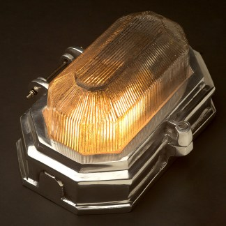 Hexagonal Aluminium Art Deco bulkhead light