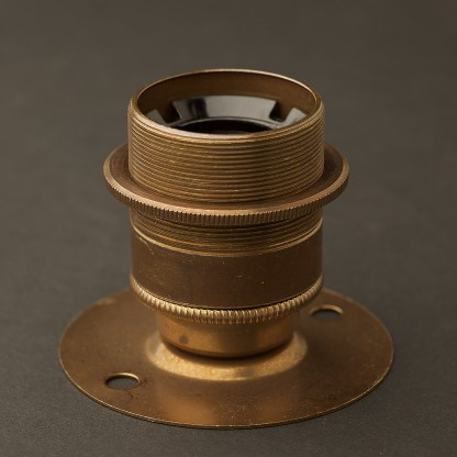 Short E27 Brass Batten Holder