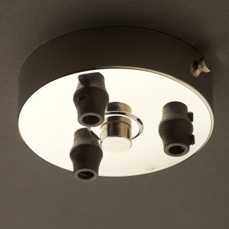 Nickel Multiple drop Plastic Cord grip ceiling plate