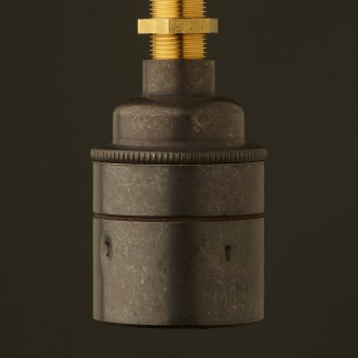 Bronze Threaded Lampholder Edison E27 smooth