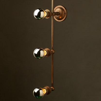 Brass 4 Bulb Mirror Light Wall Mount