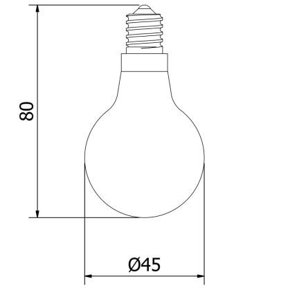 3 Watt Dimmable Filament LED E14 G45 pearl bulb