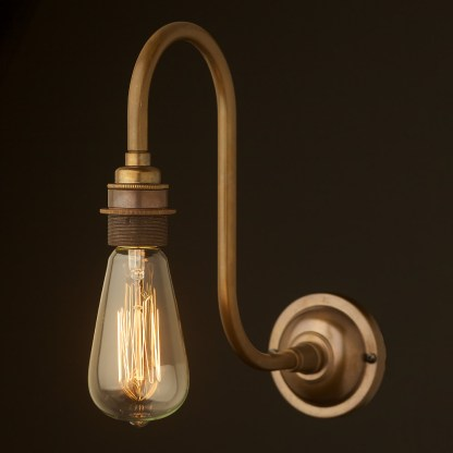 Brass Doncaster Bend Wall Light