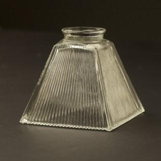 Box Shaped Holophane Glass Light Shade
