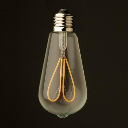 3 Watt Dimmable Loop Filament LED E27 Clear Edison