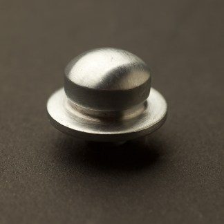 Traditional satin chrome dimmer knob
