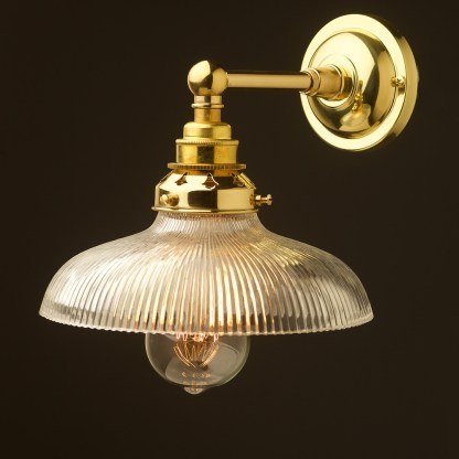 New Brass Straight Arm Wall Mount Shade