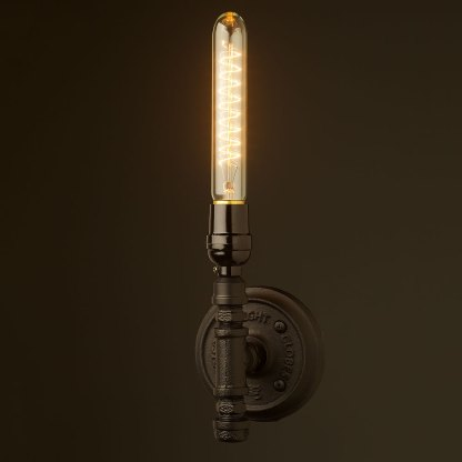 Vintage Black Bakelite Wall Candle Light E26