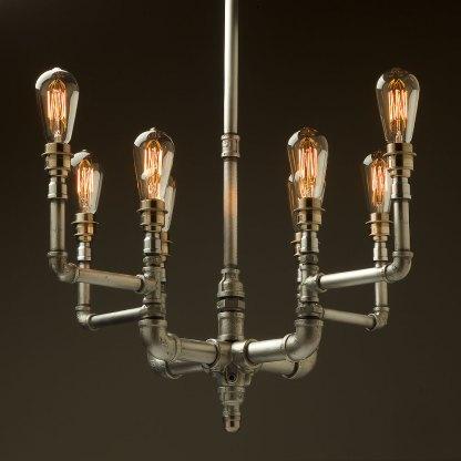 Plumbing Pipe 8 bulb formal chandelier