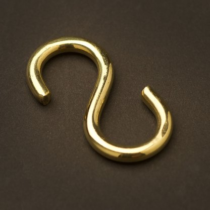 Brass S Hook 50mm