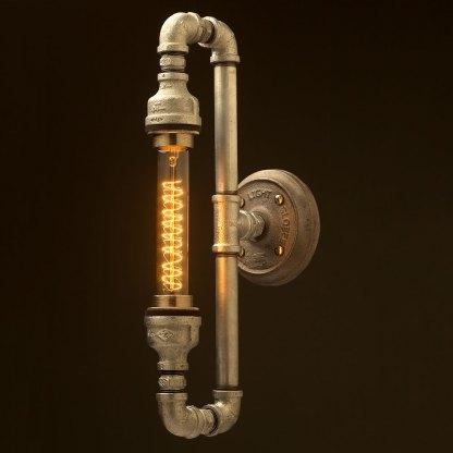 Plumbing pipe tube bulb loop light