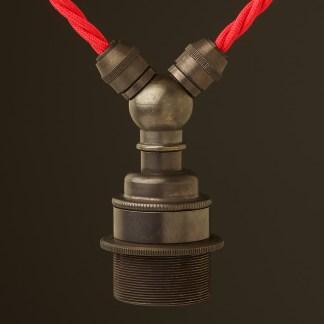 Bronze E27 festoon lamp holder