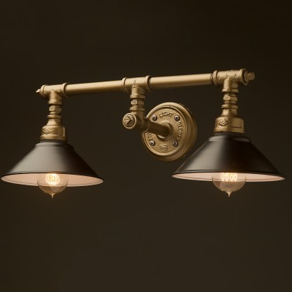 Plumbing Pipe Double Wall Shade Lamp