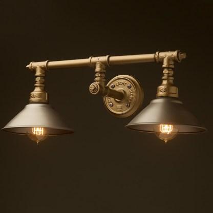 Plumbing Pipe Double Wall Shade Lamp
