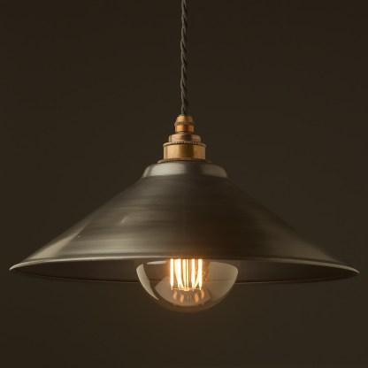Antiqued steel light shade 310mm Pendant