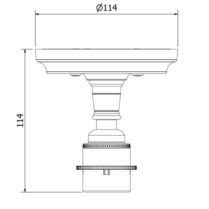 Solid cast iron and bronzed brass batten holder E27