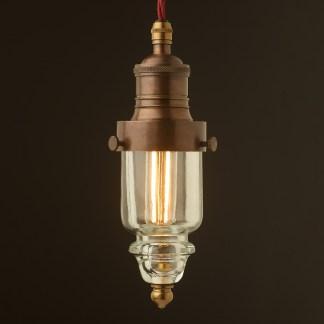 Cast brass pin insulator No430 Clear SES pendant