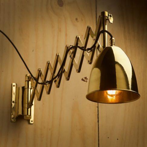 Brass-ships-scissor-navy-wall-light-extended-750x750
