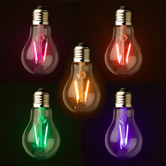Transparent LED GLS Colored Festoon Bulb E27