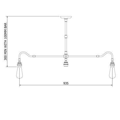 Brass Single Drop Billiard Table Light