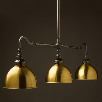Bronze single drop Billiard Table Light brass dome