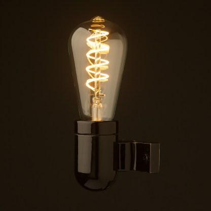Black porcelain wall light