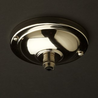 115 mm nickel plate brass cord grip ceiling plate