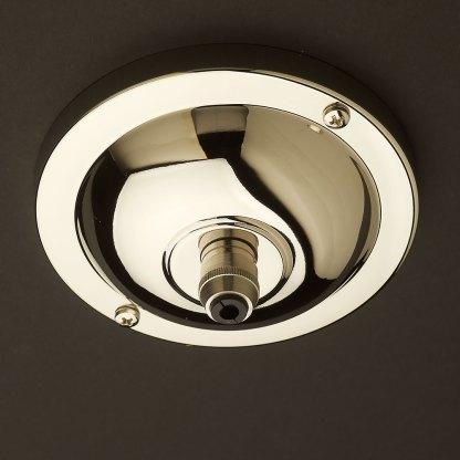 Nickel plate brass cord grip ceiling plate 115 mm