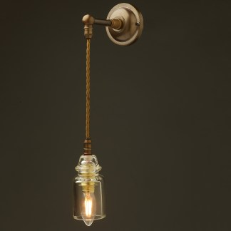 Straight arm insulator wall pendant light