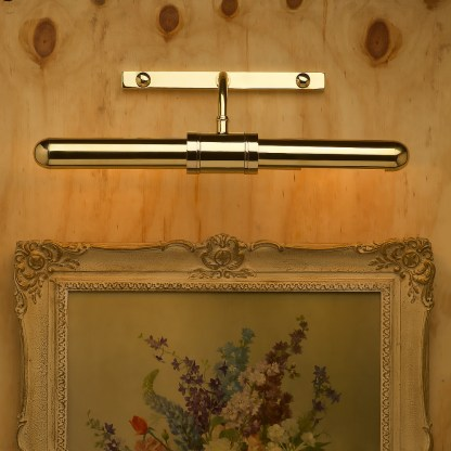 Twin tube thin brass cabinet display light
