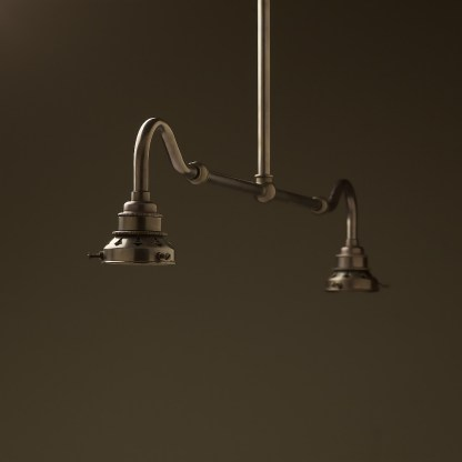 Bronze single drop small table light no shades