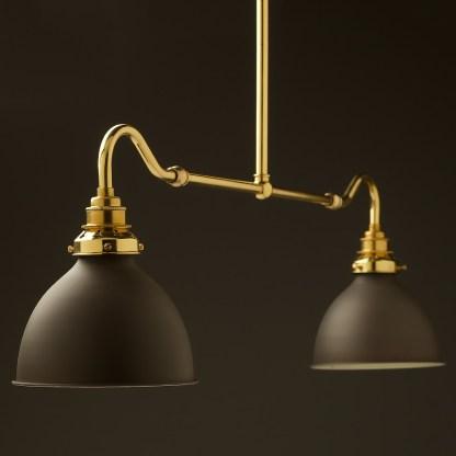 New brass single drop small table light bronze dome