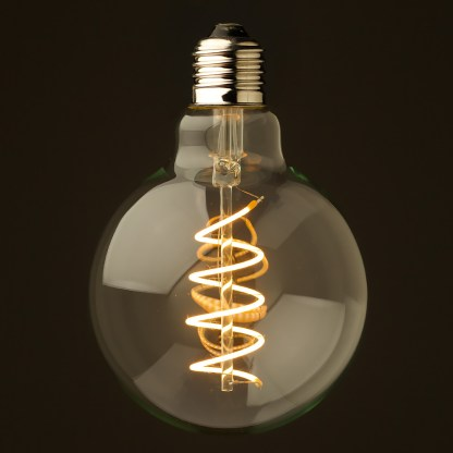 4 Watt Dimmable Spiral Filament LED E27 Clear 95mm