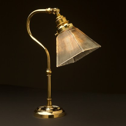 Brass small shade coventry bend bench light box holophane
