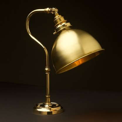 Brass small shade coventry bend bench light polished brass dome
