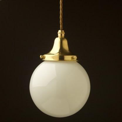 140mm opal glass spherical shade pendant