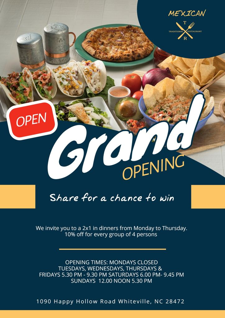designs to promote the grand opening
