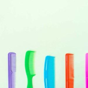Hair combs flat lay